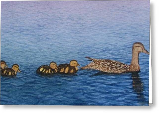 Follow The Leader II Greeting Card by Sharon Farber
