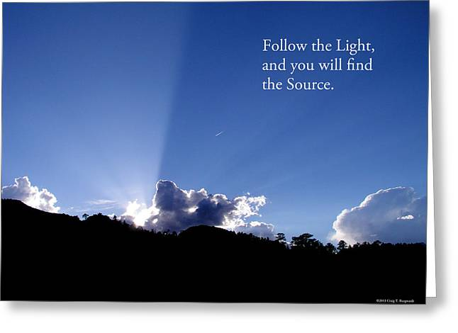 Follow The Light Greeting Card