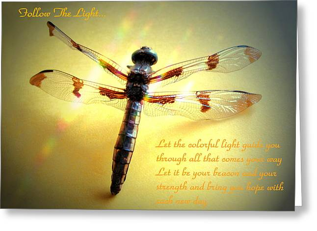 Follow The Light Greeting Card by Joyce Dickens