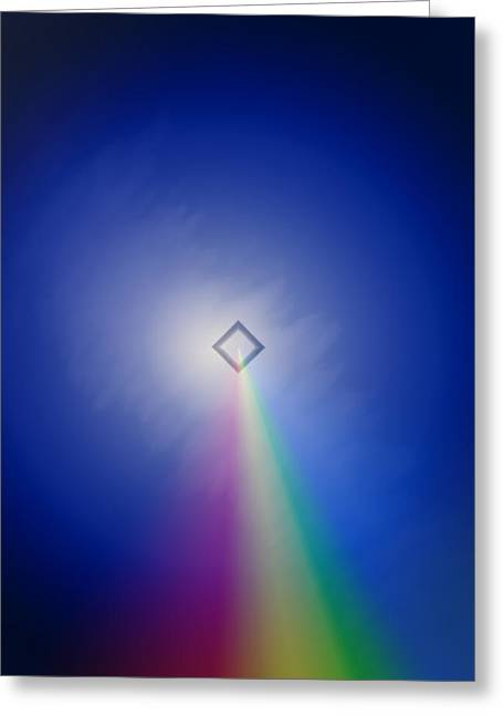 Greeting Card featuring the photograph Follow The Rainbow by Kellice Swaggerty