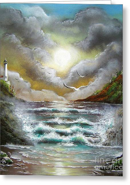Greeting Card featuring the painting Follow The Wind by Patrice Torrillo