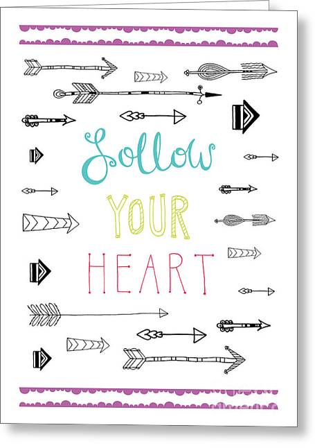 Follow Your Heart Greeting Card by Susan Claire