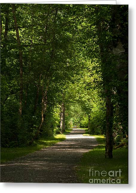 Follow Your Path Greeting Card by Malu Couttolenc