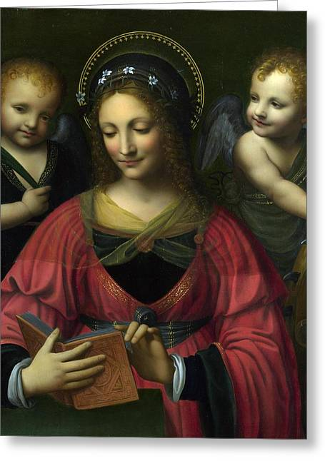 Follower Of Bernardino Luini Greeting Card by Celestial Images