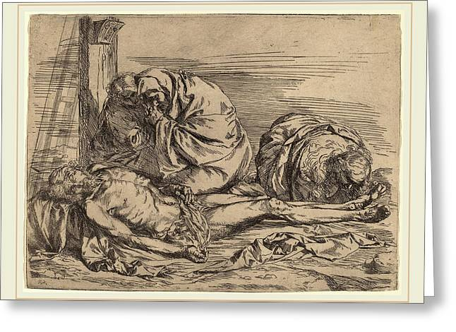 Follower Of Jusepe De Ribera, The Lamentation Greeting Card by Litz Collection