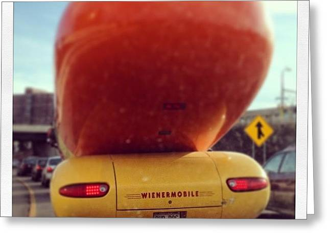 Following The Weinermobile Greeting Card