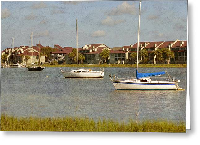 Folly Beach Boats Greeting Card