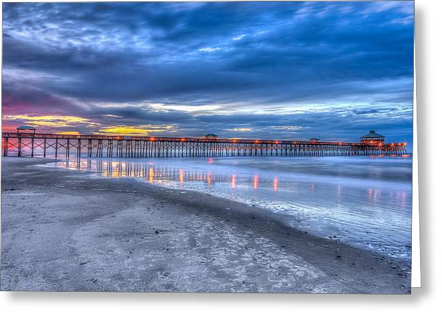 Folly Beach Fishing Pier Greeting Card