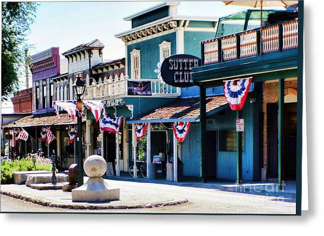 Greeting Card featuring the photograph Folsom California Usa by Polly Peacock