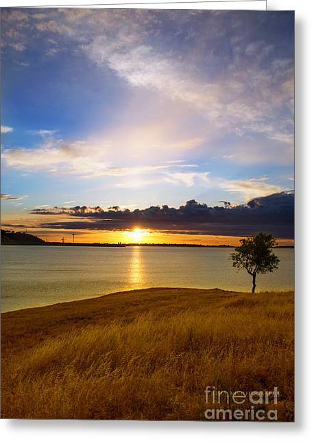 Folsom Lake Sunset Greeting Card