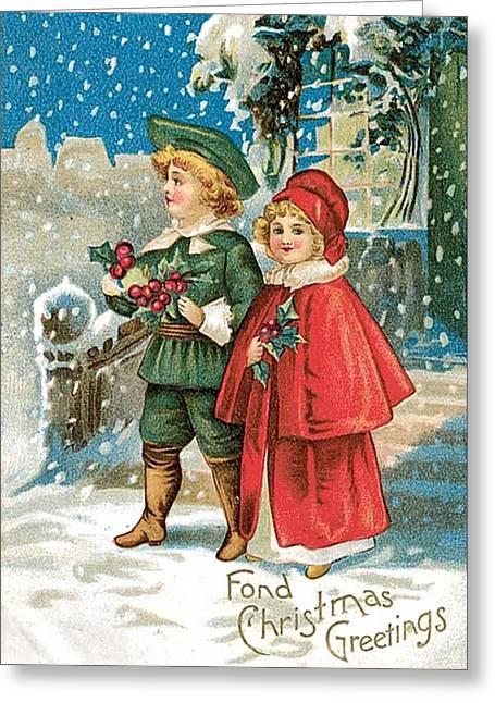Fond Christmas Greeting Card by Munir Alawi