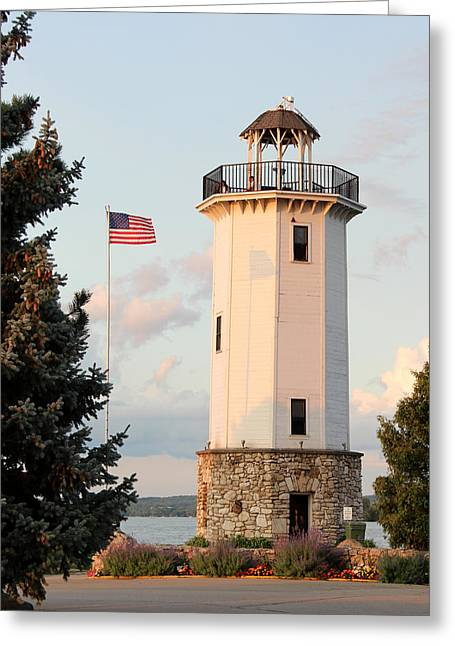 Fond Du Lac Lighthouse  Greeting Card by George Jones