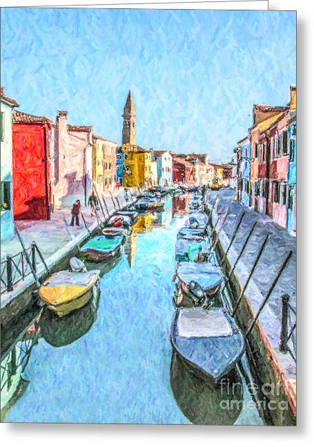 Fondamenta Della Pescheria Greeting Card