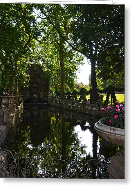 Fontaine De Medicis In Jardin Du Luxembourg - Paris Greeting Card by RicardMN Photography