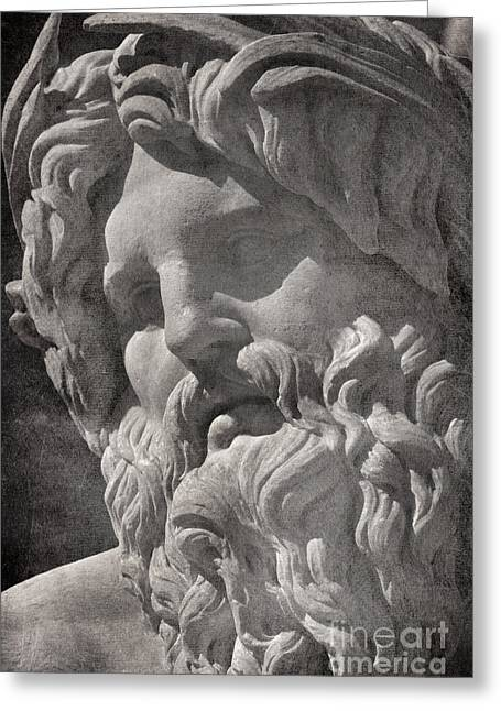 Fontana Dei Quattro Fiumi - River Ganges Greeting Card by Rod McLean