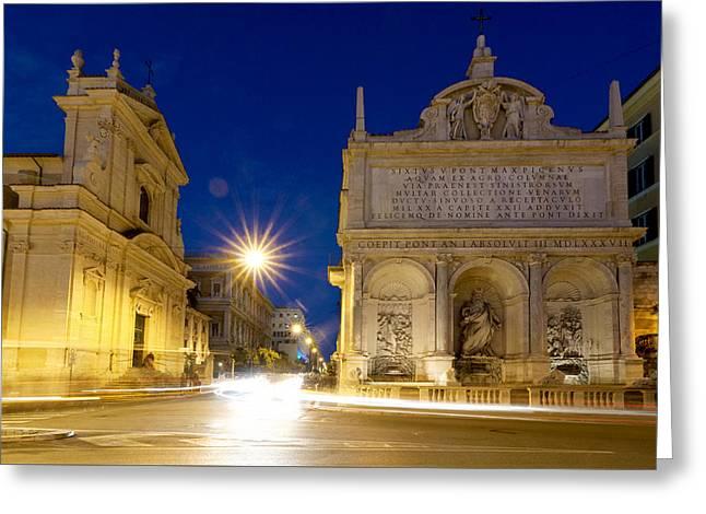 Fontana Dell'acqua Felice Greeting Card by Fabrizio Troiani