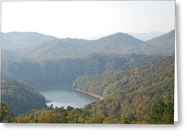Fontana Lake Fall View Greeting Card