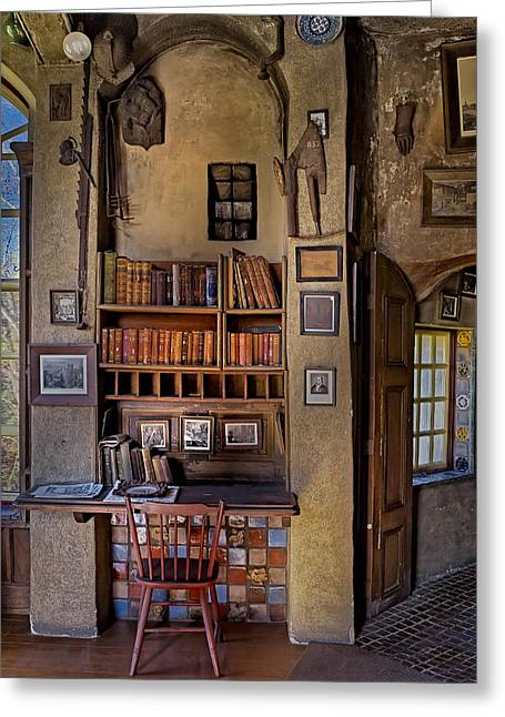 Fonthill Castle Study Greeting Card by Susan Candelario