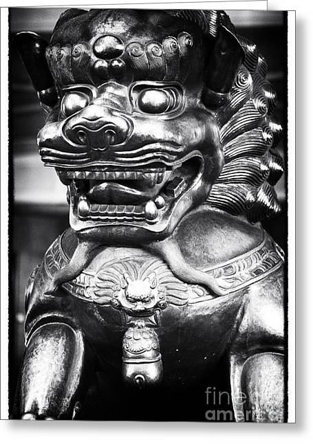 Foo Dog Greeting Card by John Rizzuto