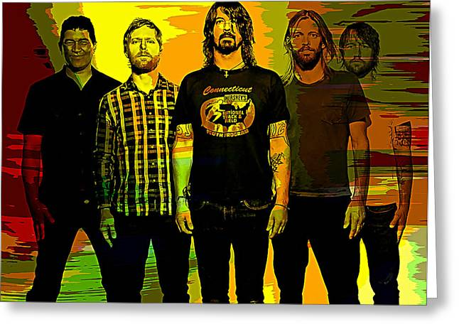 Foo Fighters Greeting Card by Marvin Blaine