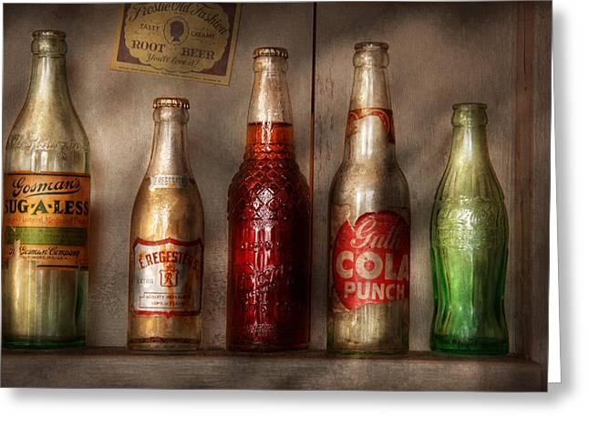 Food - Beverage - Favorite Soda Greeting Card by Mike Savad