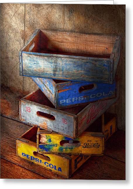 Food - Beverage - Pepsi-cola Boxes  Greeting Card