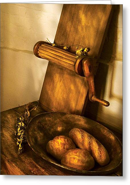 Food -  Bread  Greeting Card by Mike Savad