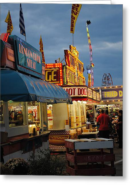 Food Court Greeting Card by Skip Willits