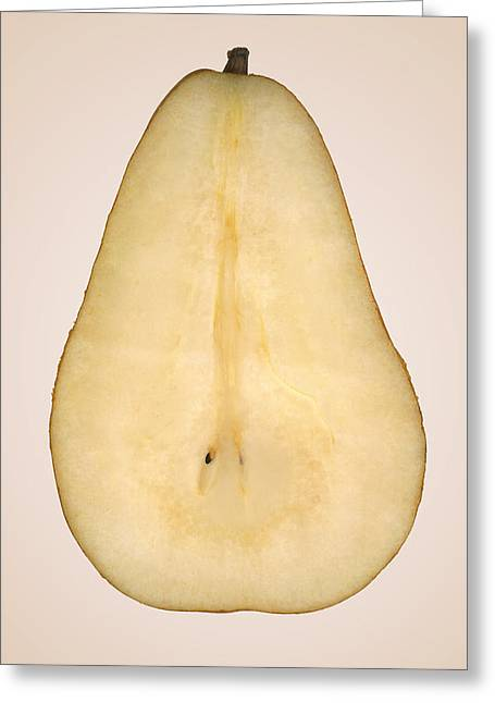 Food - Fruit - A Slice Of Bosc Pear Greeting Card by Mike Savad