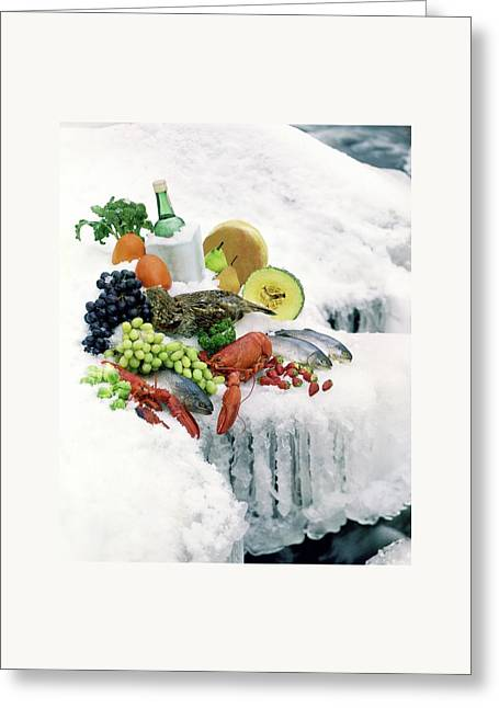 Food On Ice Greeting Card by Stan Young