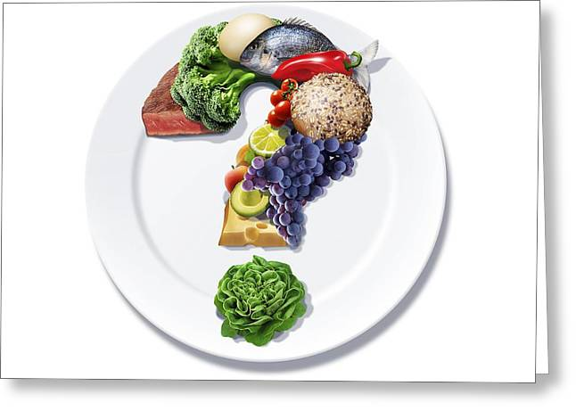 Food Queries, Conceptual Artwork Greeting Card by Science Photo Library