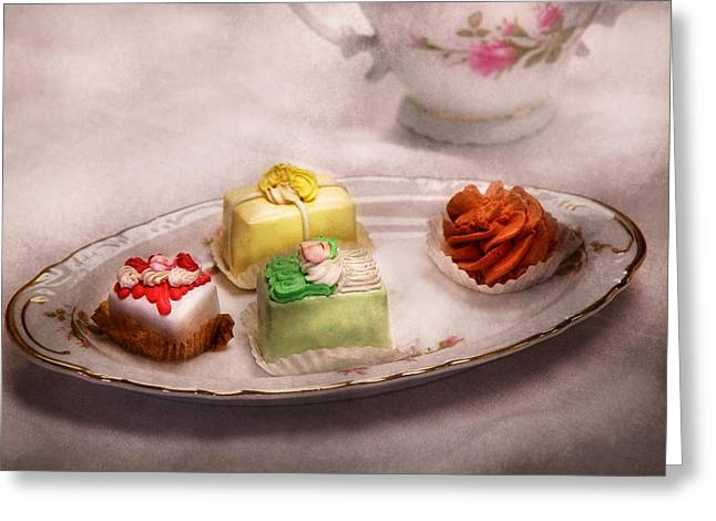 Food - Sweet - Cake - Grandma's Treats  Greeting Card by Mike Savad