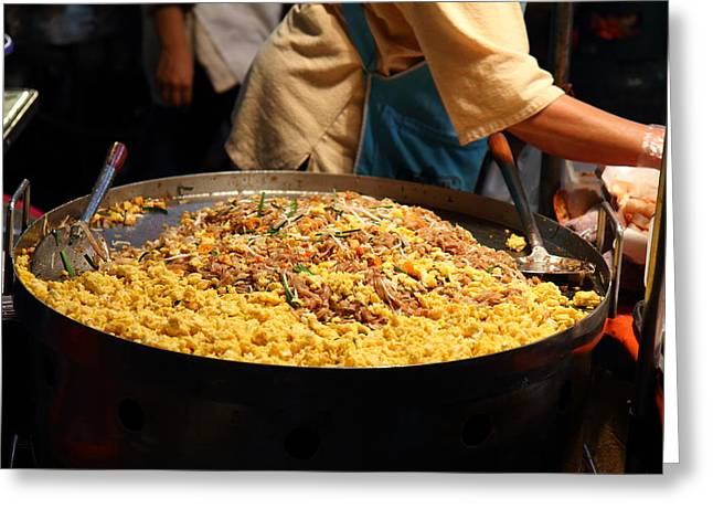 Food Vendors - Night Street Market - Chiang Mai Thailand - 011316 Greeting Card by DC Photographer