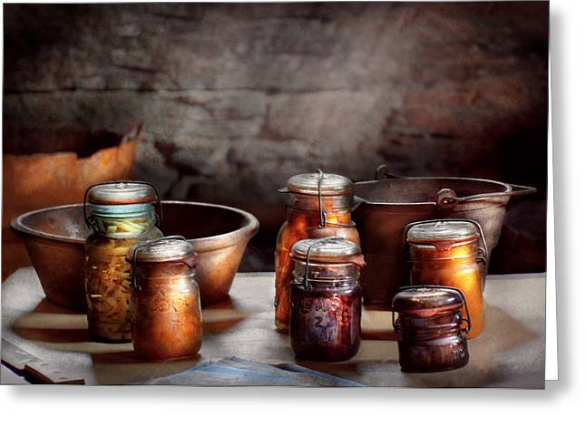 Food - Winter Reserve Greeting Card by Mike Savad