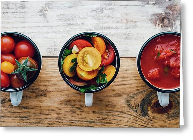 Foodprocess #2- Homemade Tomato Sauce Greeting Card