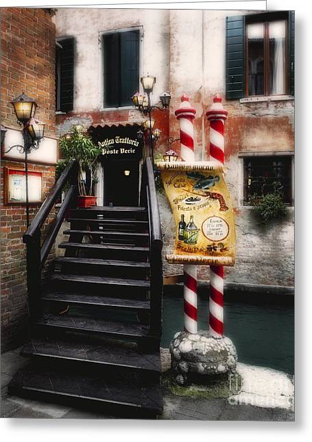 Foot Bridge In Venice Greeting Card
