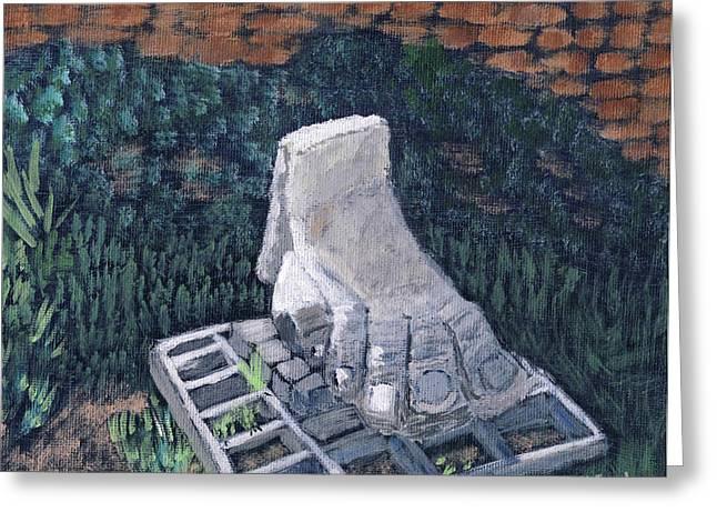 Foot Statue-caesaria Greeting Card