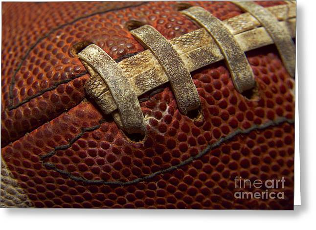 Football Greeting Card by Diane Diederich