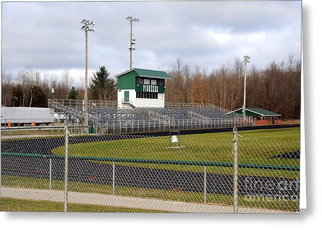 Football Field In Clare Michigan Greeting Card