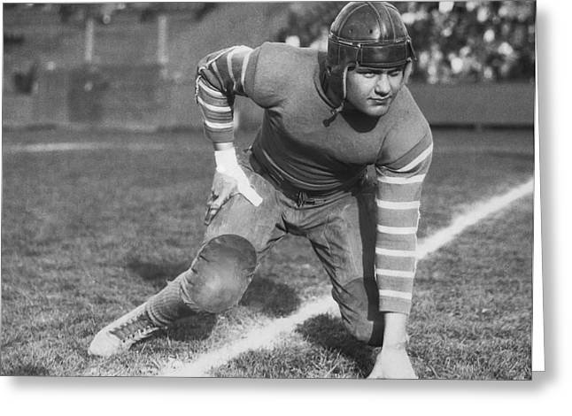 Football Fullback Player Greeting Card by Underwood Archives