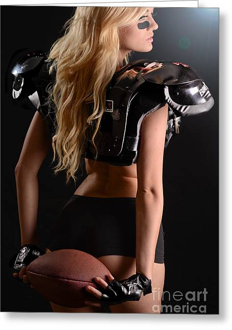 Football Girl Greeting Card by Jt PhotoDesign