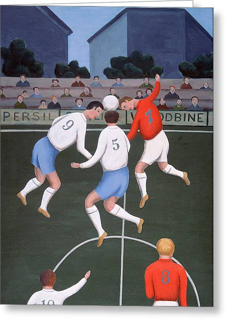 Football Greeting Card by Jerzy Marek