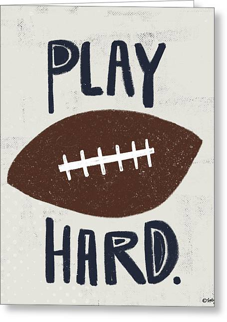 Football Greeting Card by Katie Doucette