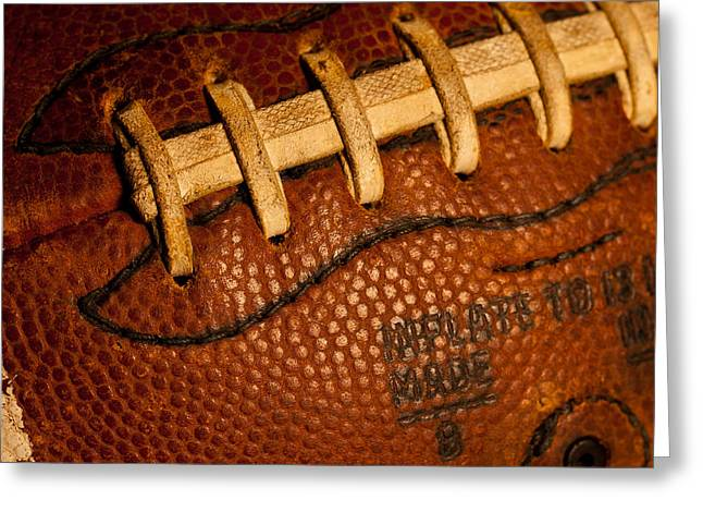 Football Laces Greeting Card by David Patterson