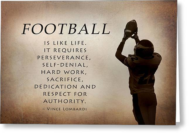 Football Greeting Card