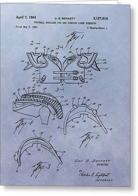 Football Pads Patent Greeting Card