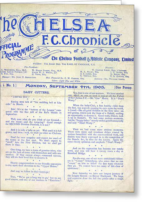 Football Programme Greeting Card