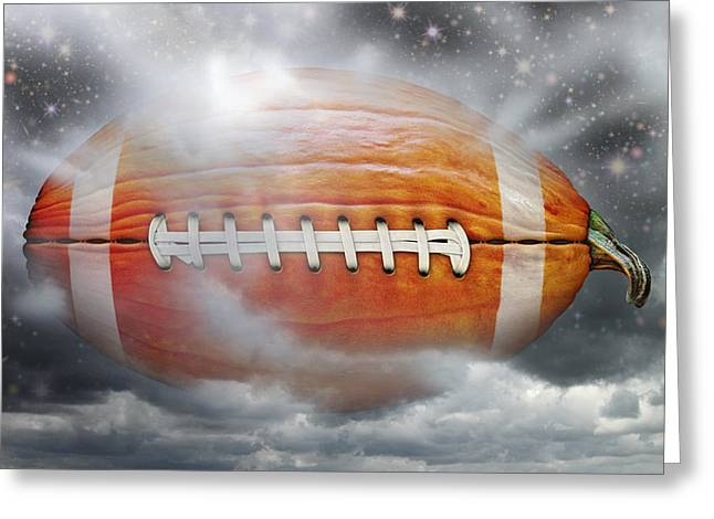 Football Pumpkin Greeting Card