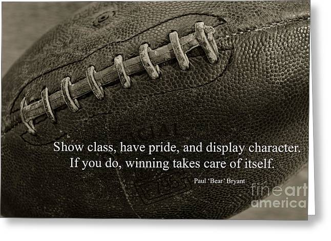 Football Show Class Greeting Card by Paul Ward