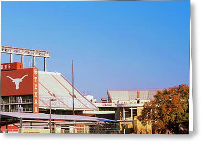 Football Stadium In A City, Darrell K Greeting Card
